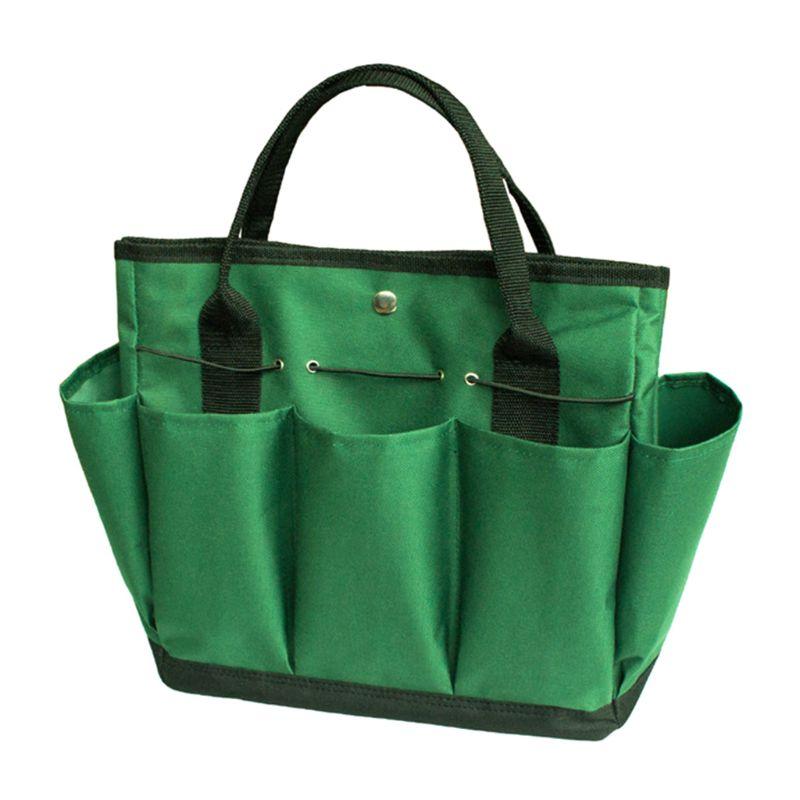 600D Oxford Cloth Portable Garden Tote Bag Gardening Tool Oxford Storage Handbag Toolkit Holder Tool Storage Bag