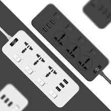 Power Strip 3 USB Extension Socket Plug 2.1A Fast Charging & 3 Outlets Socket Adapter US UK EU AU Power strip