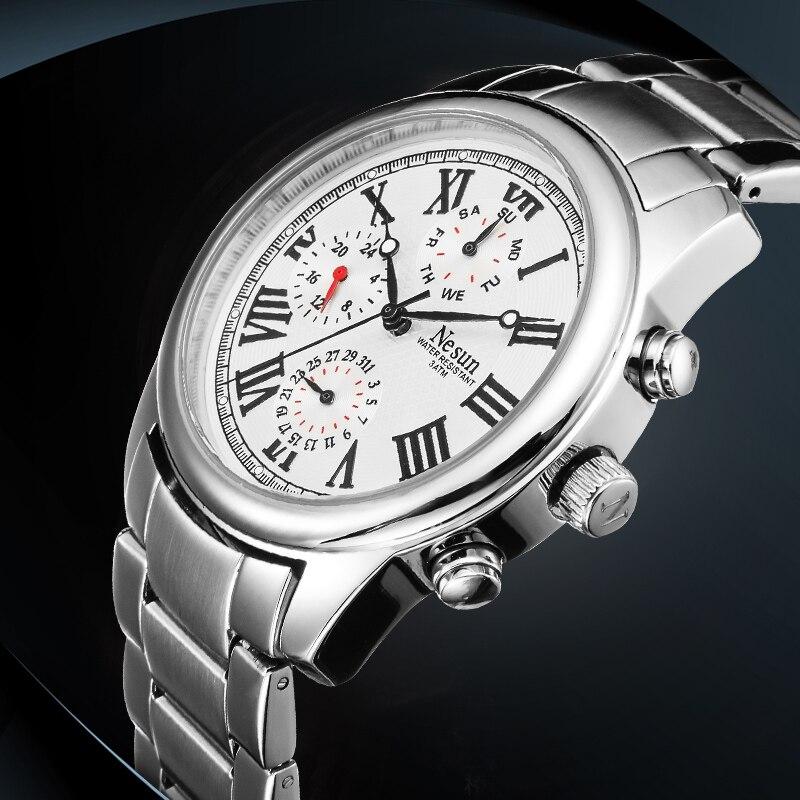 New Nesun Men's Watches Brand Luxury Japan Quartz Movement Watch Men Multi-function Dial Wristwatches Waterproof clock N8361