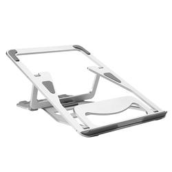 Podstawa monitora z wentylowaną metalową platformą podstawka do laptopa regulowana wysokość przenośna ergonomiczna podstawka do laptopa