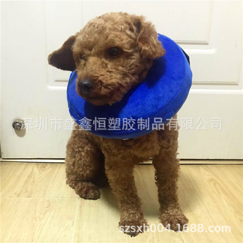 Inflatable Pet Circle Inflatable Dog Collar Warm Protection Wound Pet Collar Large Amount