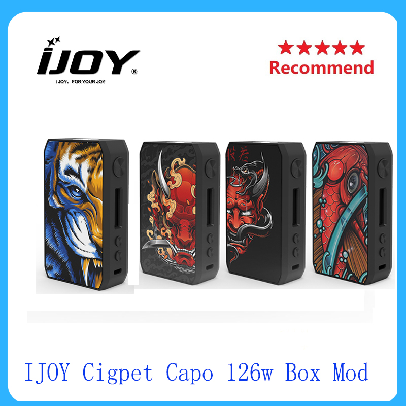 Hot IJOY Cigpet Capo 126w Box Mod Powered By Dual 18650 Batteries Electronic Cigarette Vape Mod Vs DRAG 2