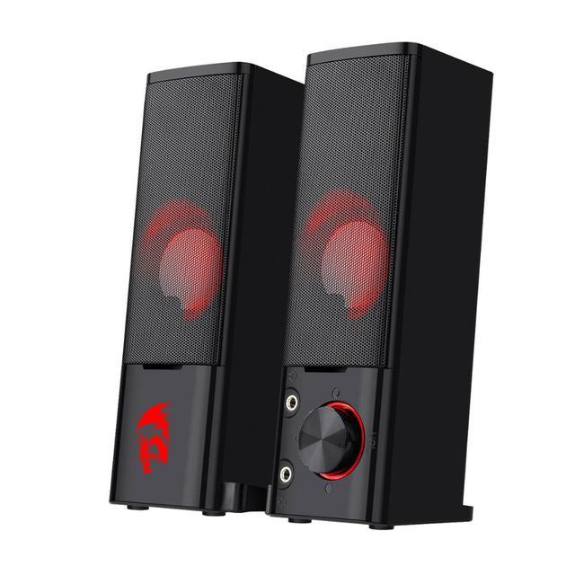 Redragon GS550 Orpheus gry komputerowe głośniki, 2.0 kanałowy stereofoniczny komputer stacjonarny Sound Bar z kompaktowym zwrotnym rozmiarem
