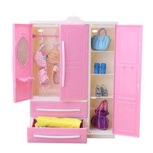 Armario armario princesa casa de muñecas accesorios de ropa dormitorio muebles para Barbie muebles accesorios para muñecas Niñas regalo