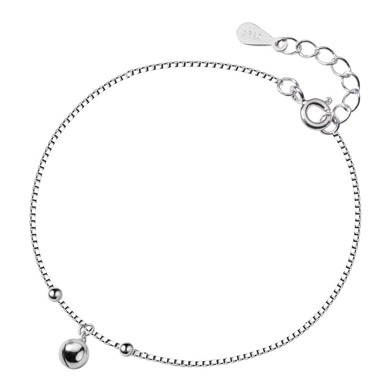 Trustdavis 925 Sterling Silver Women's Fashion Chinese Charm Wish Bell Anklets For Women Girls Birthday Gift 925 Jewelry DS1483 5