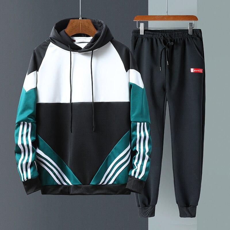 Mens Clothing 4XL Tracksuit Men Set 2020 Spring Brand Sporting Suit Track Sweat Sweatsuit Male Sportswear Jackets Vetement Homme
