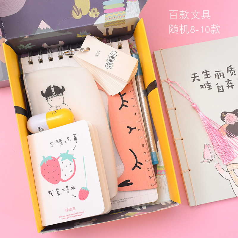 INS Hand Accounts Through Blind Box Gift Box Advertisement Office Cultural And Educational Learning Stationery Set Treasurer Rec