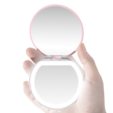 Косметический зеркальный светильник, портативный светодиодный мини-зеркало для макияжа, светильник для девушек и женщин, для дома, Specchio per il trucco portatile HTQ99