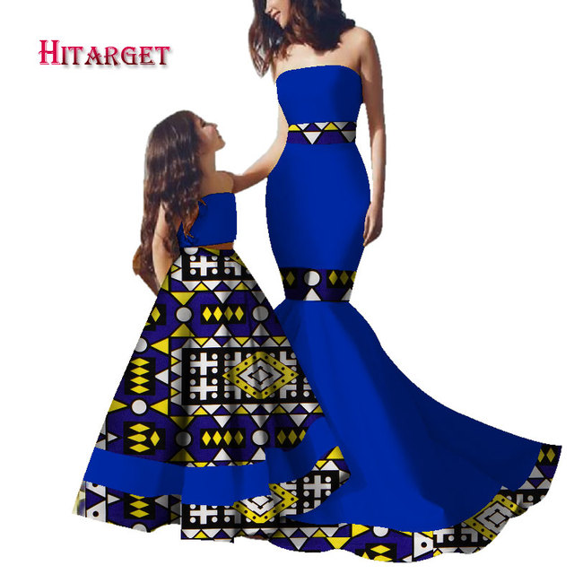 dashiki family clothes kids african dresses for women and daughter african dresses for children african print dresses WYQ197