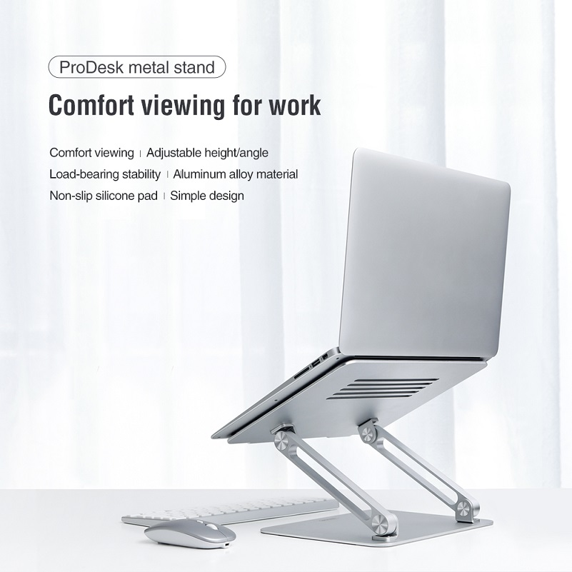 Laptop Stand Aluminium Alloy Adjustable  NILLKIN Laptop Holder Multi-Angle Stand Heat Release Foldable Laptop Notebook Stand