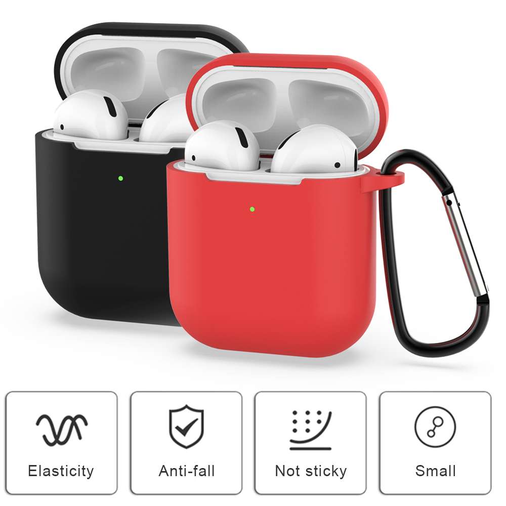 For airpods 2 <font><b>case</b></font> air pods Silicone Cover Wireless Bluetooth Headphone for <font><b>tws</b></font> i10 <font><b>i18</b></font> i19 i20 i30 i40 i50 i60 i70 image