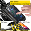 WILD MAN New Bike Bag Frame Front Top Tube Cycling Bag Waterproof 6.6in Phone Case Touchscreen Bag MTB Pack Bicycle Accessories 2