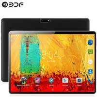 10.1 polegadas tablet pc android 9.0 4g/3g telefone chamada dez-core 8 gb ram 128 gb rom built-in 3g bluetooth wi-fi tablet pc + teclado