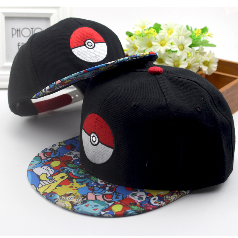 New Anime Cartoon Pokemon Go Pocket Monster Ash Ketchum Cosplay Hat Pikachu Poke Ball Demo Baseball Cap Sunhat Adjustable Caps
