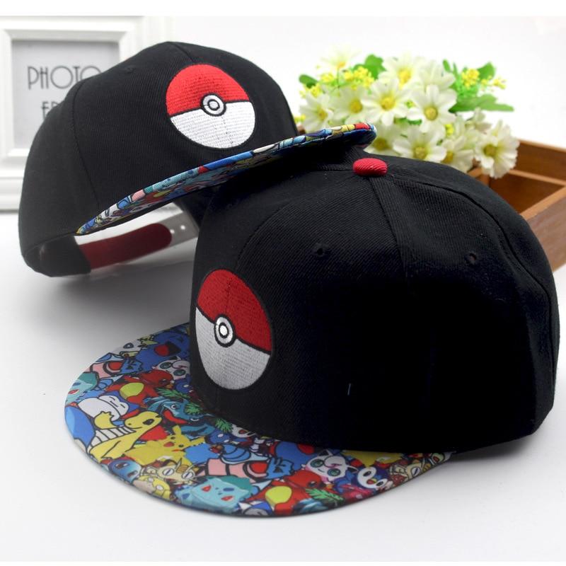 New Anime Cartoon Pokemon Go Pocket Monster Ash Ketchum Cosplay Hat Pikachu Poke Ball Demo Baseball Cap Sunhat Adjustable Caps