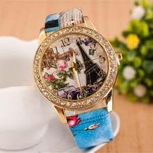 Montre Femme Moda Mujer 2019 New Arrival High Quality Student Watch Flower And Tower Dial For Girl's Gift relojes para hombre