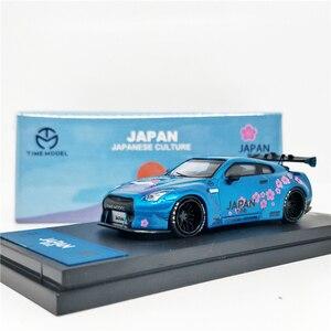Image 1 - 1: 64 Modello di tempo Nissan GTR R35 Giappone Monte Fuji Sakula Diecast Modello di Auto