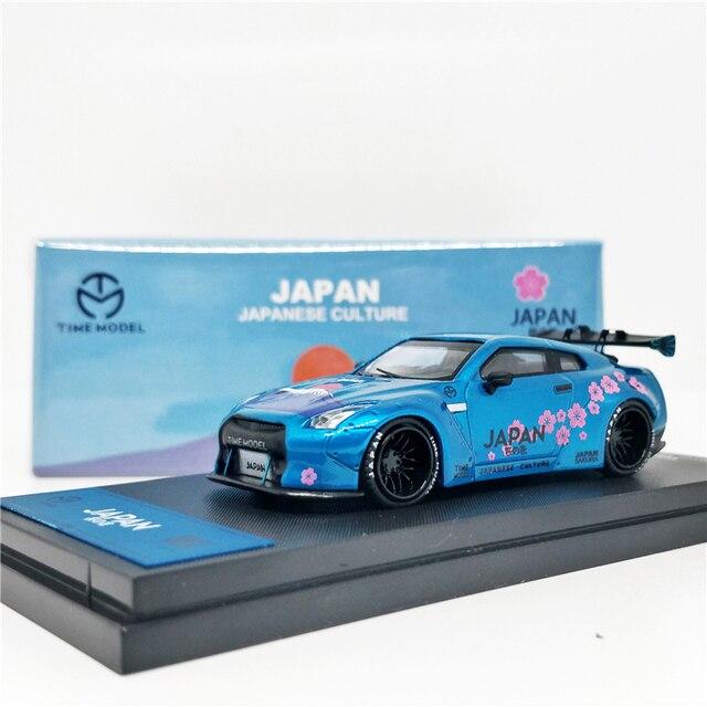 1: 64 Modello di tempo Nissan GTR R35 Giappone Monte Fuji Sakula Diecast Modello di Auto
