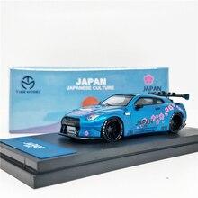 1: 64 modelo de tempo nissan gtr r35 japão montagem fuji sakula diecast modelo carro