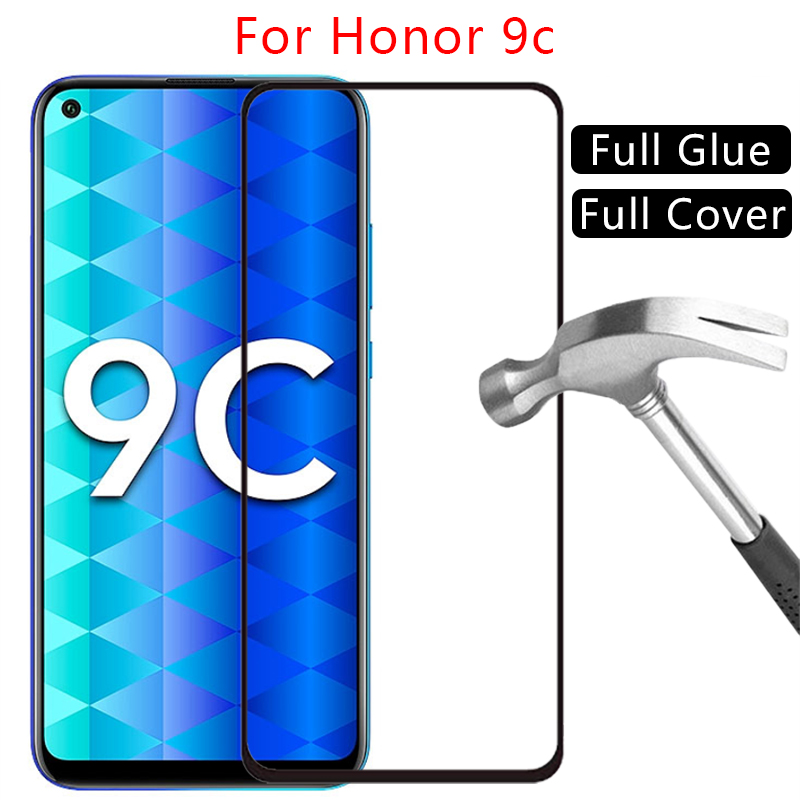 Case On Honor 9c Cover Tempered Glass Screen Protector For Huawei Honor9c 9 C C9 6.39 Protective Phone Coque Original Bag Huawey