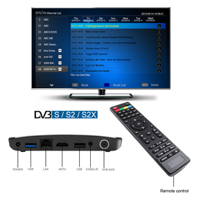 Image 3 - Mecool Satellite DVB S2/S2X Android 9.0 2GB 16GB Amlogic S905X2 WiFi กล่องทีวี 4K PVR บันทึก YouTube M8S PLUS คอนโซล