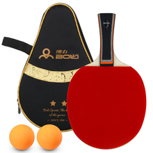 Bat Racket-Set Table-Tennis-Racket Ping-Pong-Paddle Ball Rubber Double-Sided 2-Star