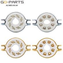 10PCS 섀시 진공관 소켓 KT88,KT66,EL34,5AR4,6L6,6CA7,6SL7,6SN7,GZ34 용 8 핀 8 각형 세라믹 밸브 튜브베이스 장착