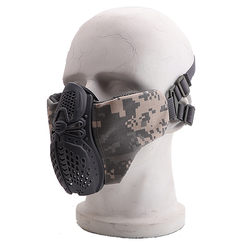 Half Face Carbon Bicycle Sport Road Cycling Masks Face Cover Anti Dust Training Mask Cycling Masks With Filter