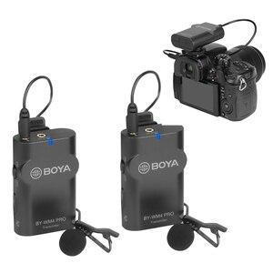 Image 2 - BOYA BY WM4 פרו K2 K1 טלפון אלחוטי Lav מיקרופון וידאו אודיו Lavalier מיקרופון עבור DSLR מצלמה DV Smartphone Vlog חי הזרמת