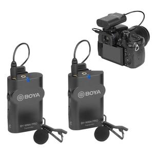 Image 2 - BOYA BY WM4 Pro K2 K1 telefonu kablosuz Lav mikrofon Video ses yaka mikrofonu DSLR kamera DV için Smartphone Vlog canlı akış