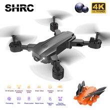 Shrc 2021 novo rc zangão h9 vs e68 wifi fpv zangão com grande angular hd 4k 1080p câmera altura mantendo dobrável quadcopter