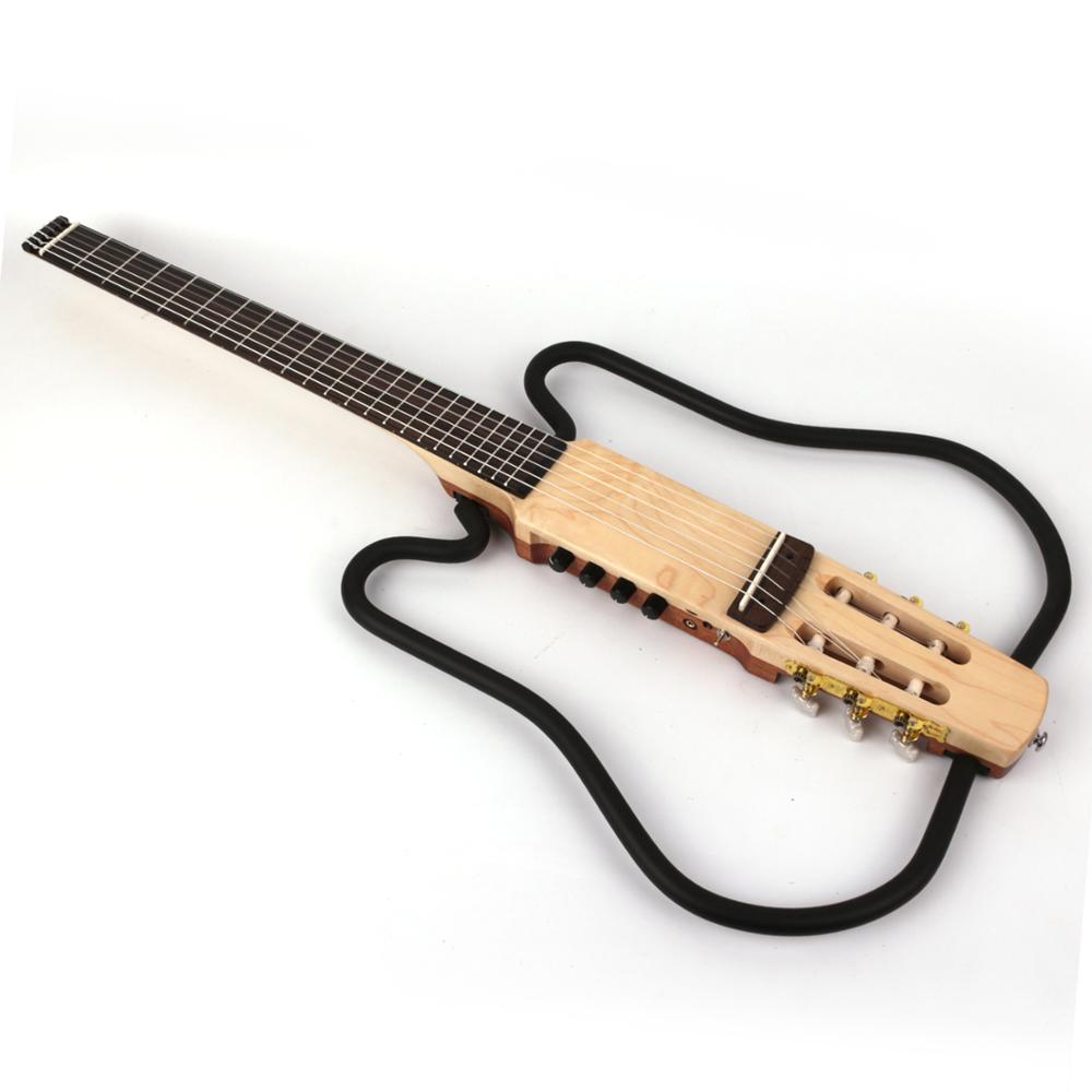 nylon string headless classical classic silent electric guitar built in effect travel portable fold foldable free shipping