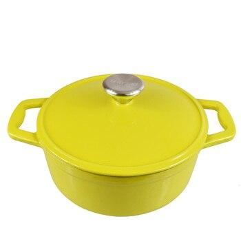 Cast Iron Pan Pan Iron Saucepan Thickening Was Simmering Enamel Cast Iron Titanium Pot Induction Cooker Gas