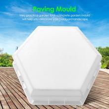 Garden Path Paving Moulds DIY Concrete Home Reusable Hexagon-shaped Stone Mold Necessary Outdoor Landscape Paving Gadgets