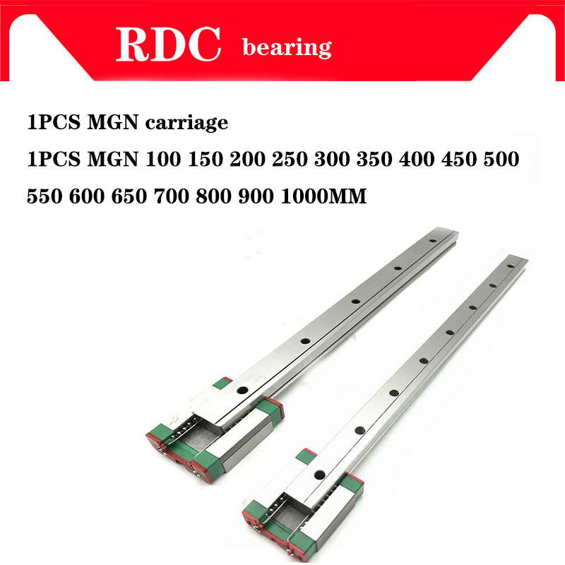 MGN7 MGN12 MGN15 MGN9 300 350 400 450 500 600 800mm Miniature Linear Rail Slide 1pcMGN9 Linear Guide+1pcMGN9H Carriage CNC Parts