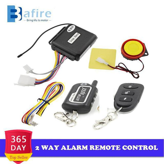 $ US $17.04 BAFIRE Motorcycle Two Way Alarm System Remote Control Vibration Alarm Theft Protection Moto Scooter Security Alarm Engine Start