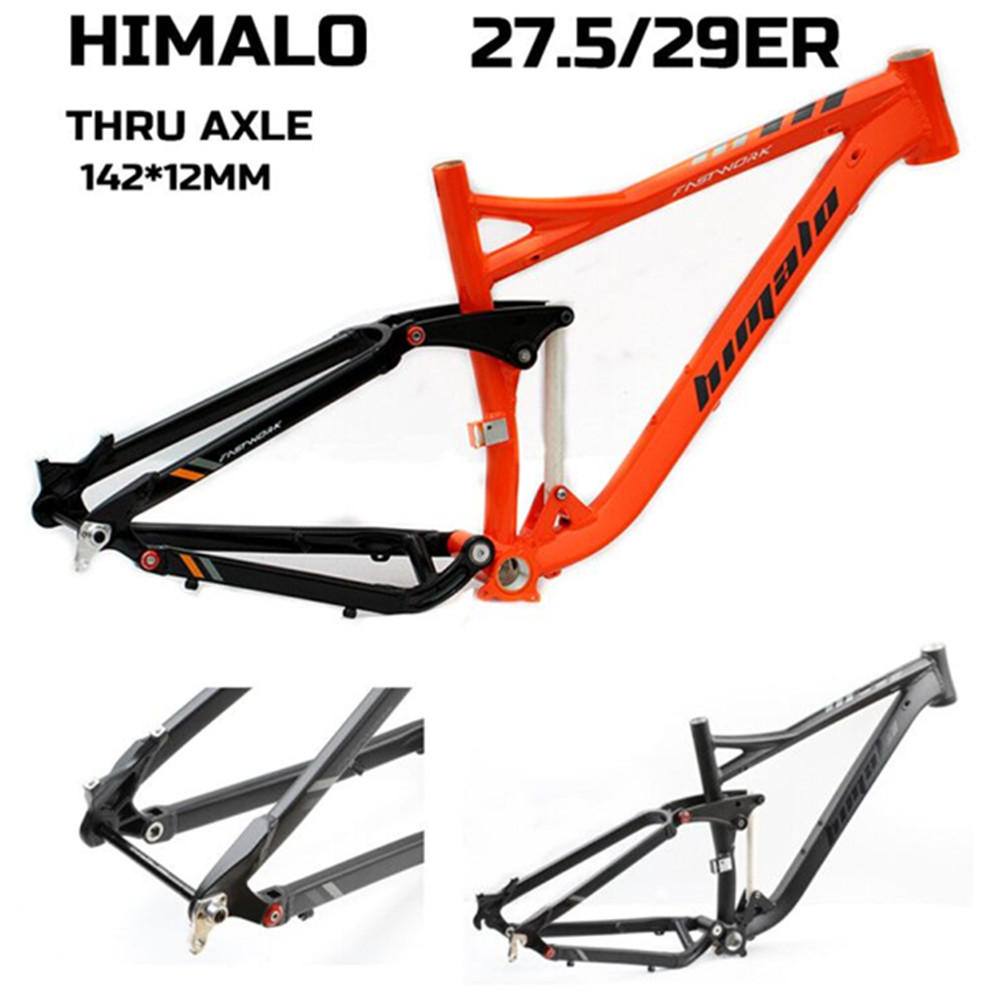 HIMALO Bicycle Frame Full Suspension Frame 29ER 27.5ER THRU AXLE Aluminium Alloy MTB Frame Mountain DH Cycling Downhill Bike