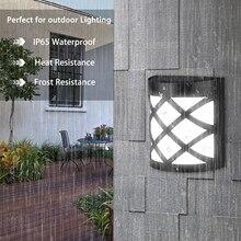 Солнечный свет IP65 Водонепроницаемый 6 светодиодный PIR датчик движения настенный светильник Открытый Солнечный свет лампа для украшение сада, двора
