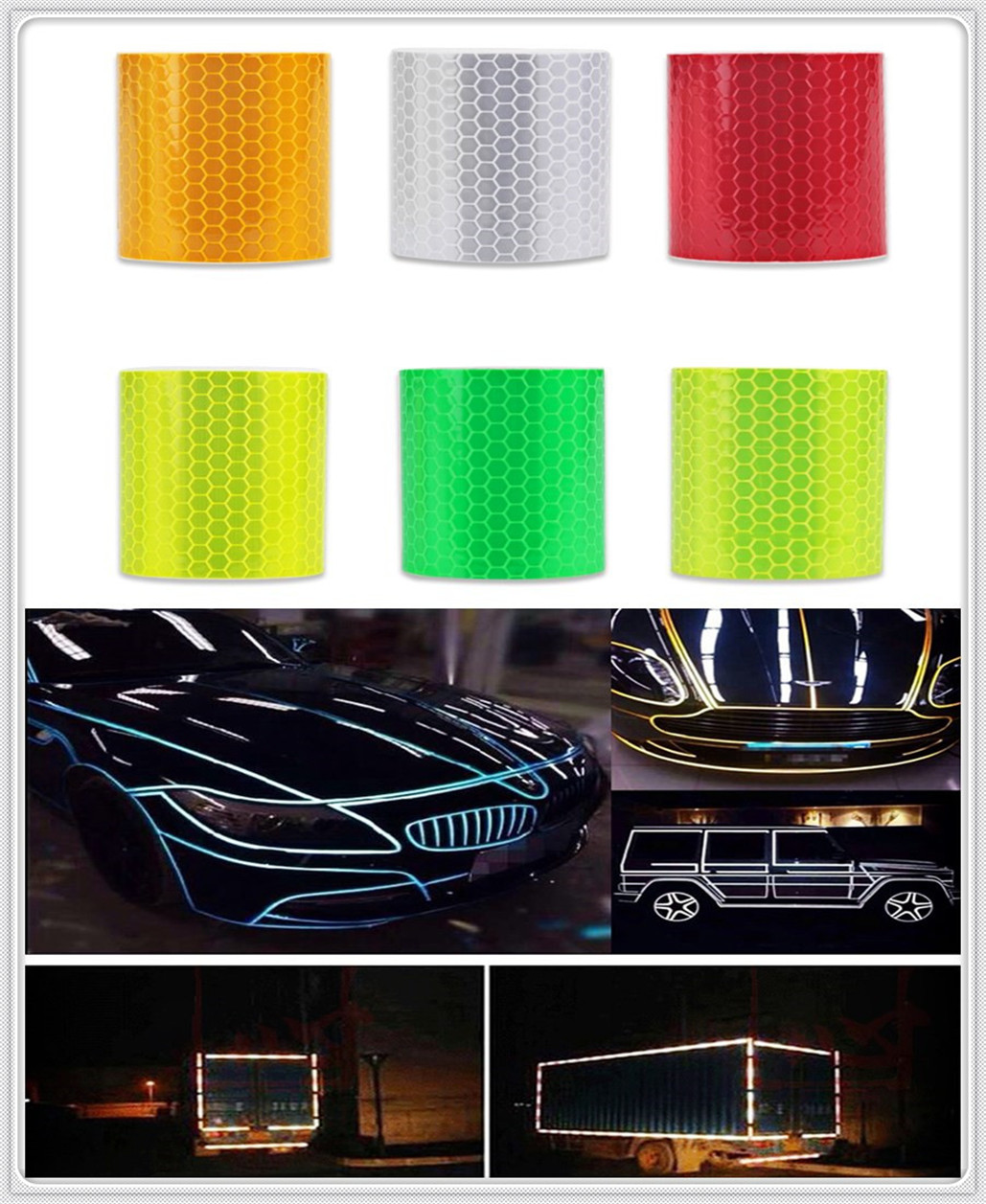 Car Accessories Reflective Sticker Decal Warning Tape Film for Chevrolet Volt SS Chevelle FNR 1970 1967 Impala Chaparral