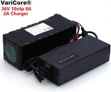 VariCore 36V 8Ah 10S4P 18650 ładowalny akumulator, zmodyfikowane rowery, pojazd elektryczny 36V ochrona z PCB + 2A ładowarka