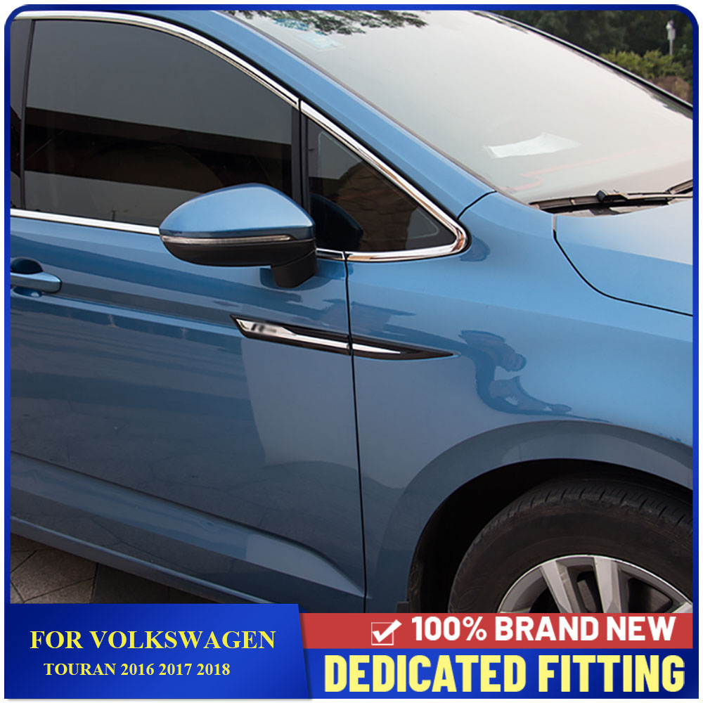 For Volkswagen Touran 2016 2017 2018 Accessories 4 Motion Emblem Original Door Side Emblem Sticker Cover Trim Car Styling