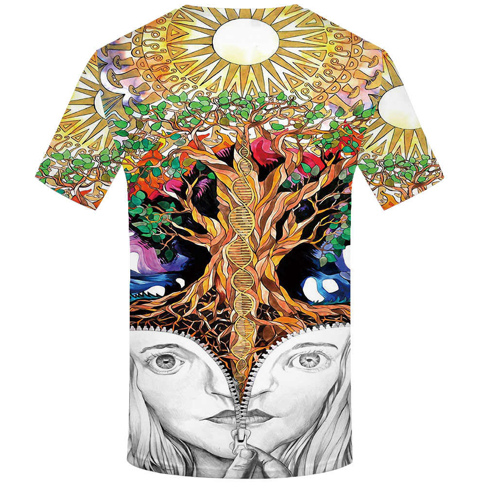 KYKU schädel t-shirt männer Psychedelic T shirts Baum 3d t-shirt Metall Druck t shirt Lustige T shirts Hip hop Harajuku herren Kleidung Neue