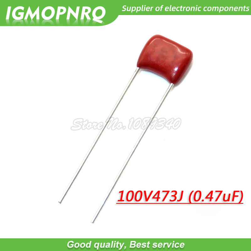 10PCS 100V473J 0.047UF 47NF Pitch 5mm 100V473J-P5 100V 473 CBB Polypropylene Film Capacitor