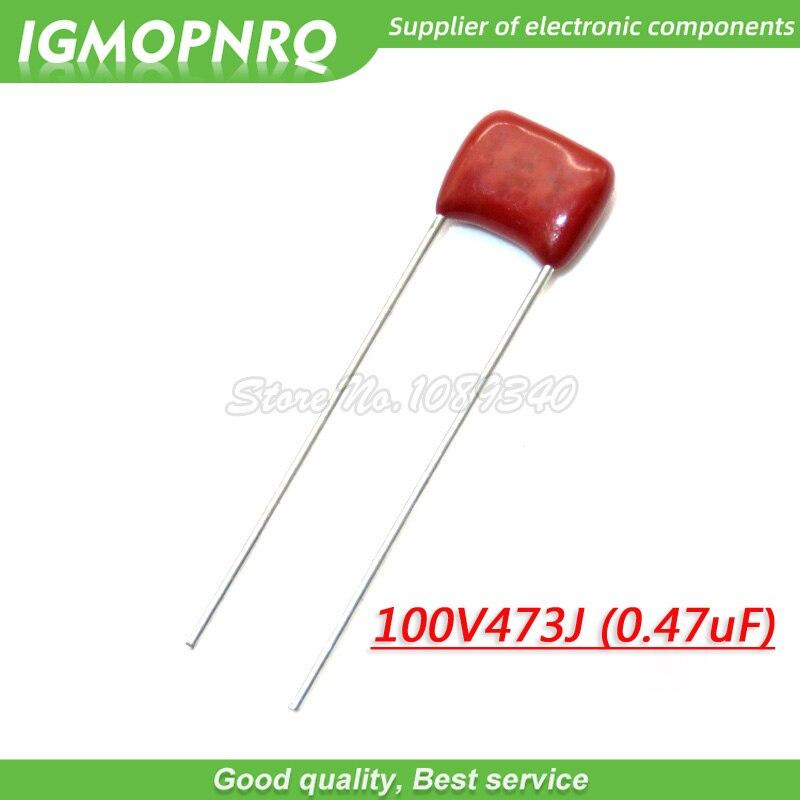 10PCS 100V473J 0.047UF 47NF Pitch 5mm 100V473J-P5 100V 473 CBB Polypropylene Film Capacitor