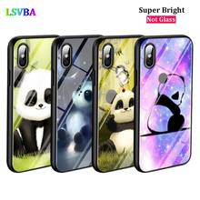 Black Cover Cute Panda for iPhone X XR XS Max for iPhone 8 7 6 6S Plus 5S 5 SE Super Bright Glossy Phone Case black cover japanese samurai for iphone x xr xs max for iphone 8 7 6 6s plus 5s 5 se super bright glossy phone case