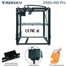 Tronxy Upgraded X5SA-500 PRO 3D Printer Touch Screen FDM Linear Guide 500*500*600mm Big Size Printing Auto Leveling Ultra-quiet tronxy x5s 400 diy 3d printer kits big printing size hotbed 3d printer