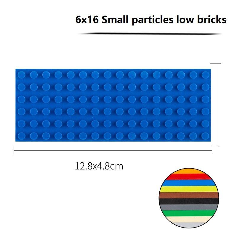 Blocs de construction à assembler, briques à petites particules, 6x16, 3 pièces, compatibles avec les blocs multi-marques, bricolage