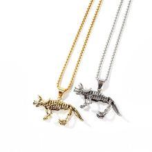 Витаж ювелирные изделия динозавр скелет подвески ожерелья для
