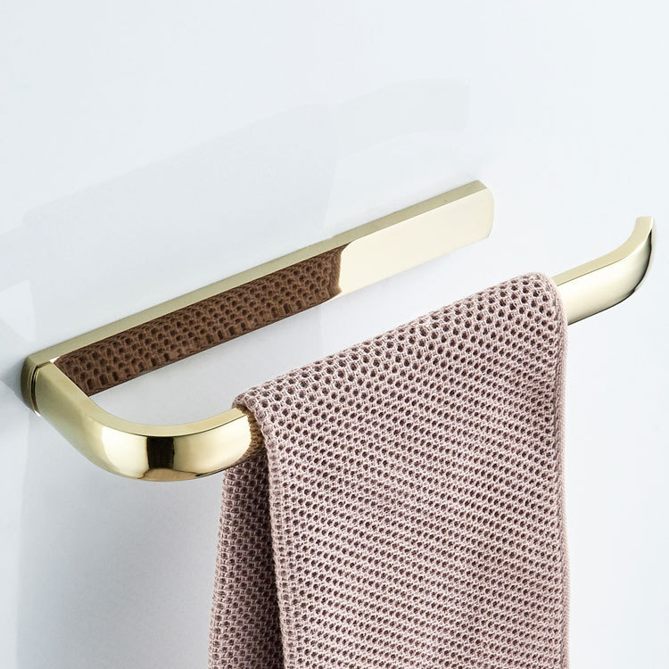 Electroplated Chrome Zirconium Gold Simple Brass Towel Ring Towel Bar Toilet Sanitary Ware Hardware Accessories Wholesale Price