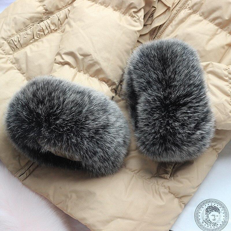 100% real fox fur new cuff winter ladies arm fashion warm down coat windproof cuff bracelet multiple colors